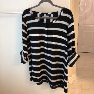 GAP Classic Black and White Stripe Shirt